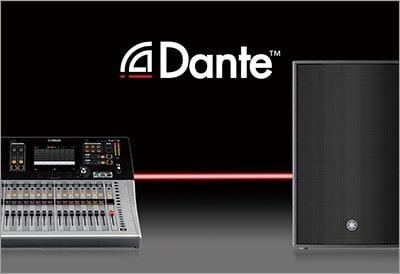 Yamaha DZR z systemem Dante